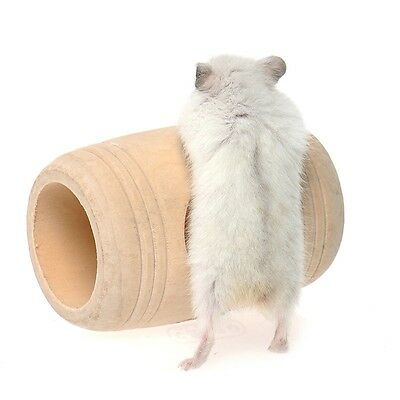 Rat Hamster Mouse Wooden Bed House Cage Toy Wine Cask Design Rat Small Pet Toy