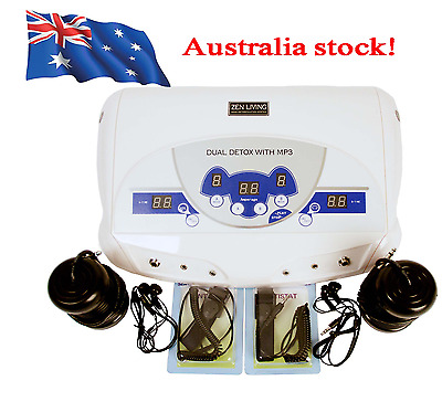 2017 NEW Professional Dual Ionic Foot Detox Bath & Spa Chi Cleanse Machine In AU