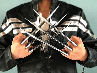 US Free Shipping 2PCS X-Men Wolverine Logan ABS Claws Blade Cosplay Props