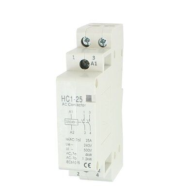 AC 240V 25A 2 Reed AC Contactor 2P Closed Domestic 35 mm DIN Rail R1J4