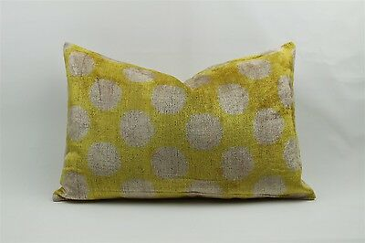 Velvet Ikat Silk Pillow Cover