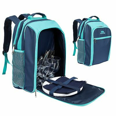 Trespass Elfresco 4 Person Picnic Set Outdoor Backpack with Cooler
