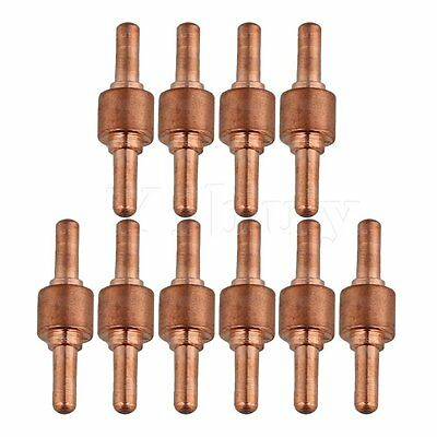 10Pcs Coppery Plasma Cutting Consumables Electrode Tips for PT-31 Model