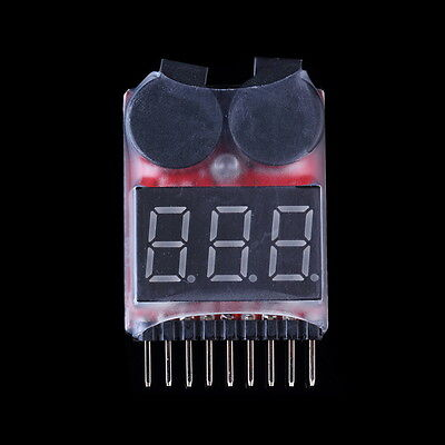 RC Lipo Battery Low Voltage Alarm 1S-8S Buzzer Indicator Checker Tester LED Best
