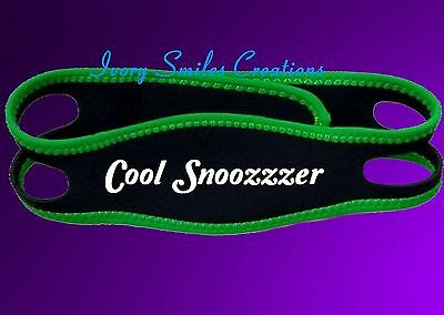 Anti Snoring Chin Strap Ant Snore Belt Cool Snoozer Jaw Support Anti Apnea Green