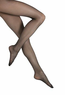 Job Lot 6 x Pairs 15 Denier Sheer Black Nylons Tights - Medium FREE POST