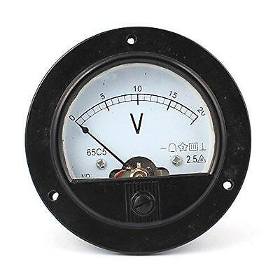 DC 0-20V Analogue Panel Meter Volt Voltage Gauge Analog Voltmeter New