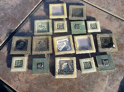 Computer Processorsl Lot of 16 for Gold Recovery Parts Untested