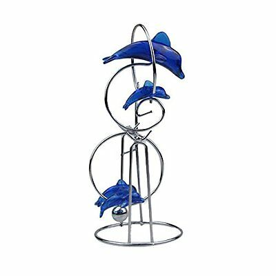 Blue Dolphin Ornaments Crafts Decorations Pendulum Perpetual Motion Ball Fe H7W1