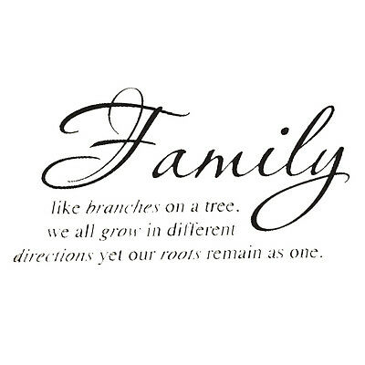 """Family Tree Together Love"" Wall Vinyl Sticker Decal Quote Home Room Decor W3X1"