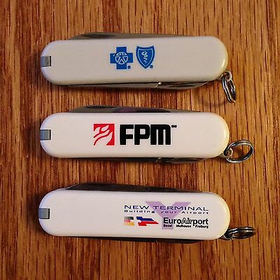 Lot of 3 New White Advertising Classics By Victorinox #491
