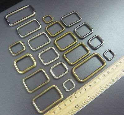 Non Weld Metal Rectangle D rings loop for webbing 13mm 20mm 25mm 32mm 38mm 50mm