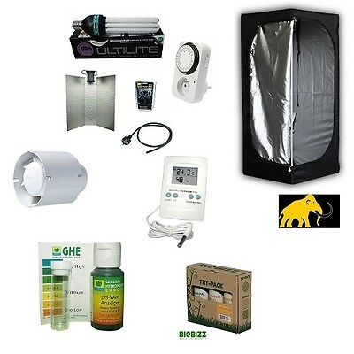 Kit Growbox 60 Lite CFL 125W Agro Growroom completa Coltivazione Indoor Grow Box
