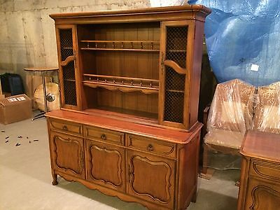 JL Metz vintage french regency style china and buffet cabinet