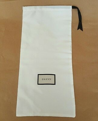 GUCCI white dust bag / sleeper / protective cover - 44.5cm x 21.5cm