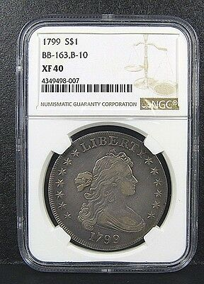 1799 Draped Bust Dollar Bb-163 B-10 Ngc Xf40