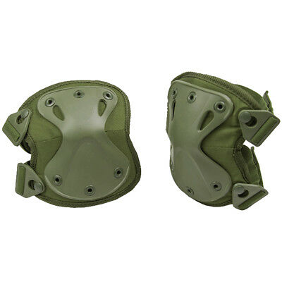 Mil-Tec Protect Knee Pads Security Tactical Airsoft Adaptive Protectors Olive