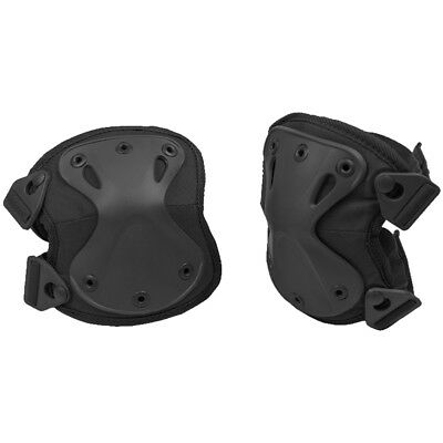 Mil-Tec Protect Knee Pads Security Police Army Patrol Protective Covers Black
