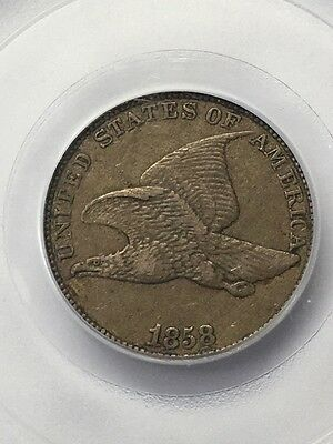 1858 Flying Eagle 1C 1 Cent PCGS XF40 Large Letters XF 40