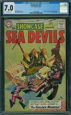 Showcase 27 CGC 7.0 - OW Pages - 1st Sea Devils