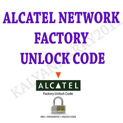 Alcatel Unlock Code Onetouch Metropcs Evolve 2 5020N Sim service provider pin