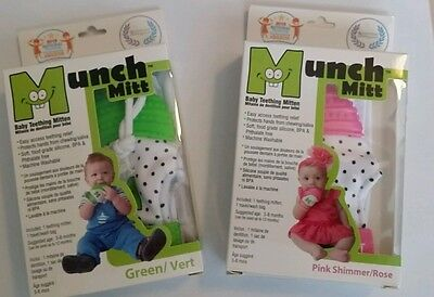 Munch Mitt Baby Teething Mitten (various colors)