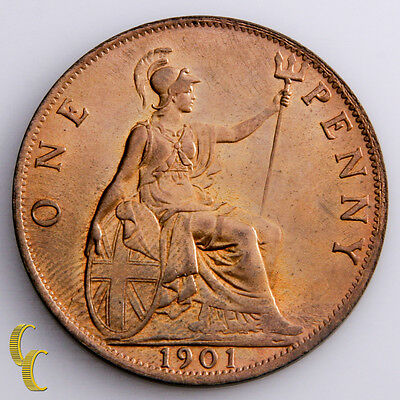 1901 Great Britain Penny (BU) Red Brilliant Uncirculated Condition