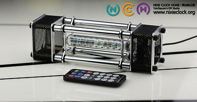 IV-18 VFD Nixie Tube Clock kit.Full functions.Alloy shell.IR remote.Free Shiping