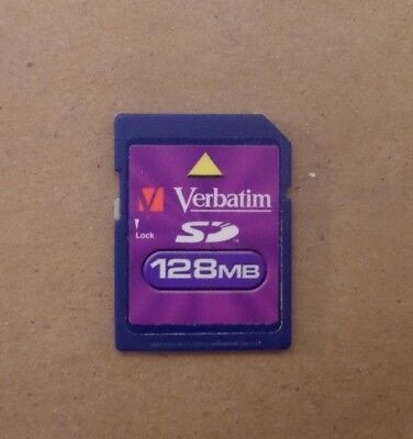 Verbatim 128 MB SD Memory Picture Flash Card 128MB 8A31285110100 USA Seller