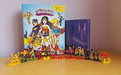 DC Super Friends Girls My Busy Book + 12 Character Figures & Playmat, Supergirl