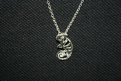 "Chameleon, Reptile, Lizard Necklace cute necklace 18"" chain"