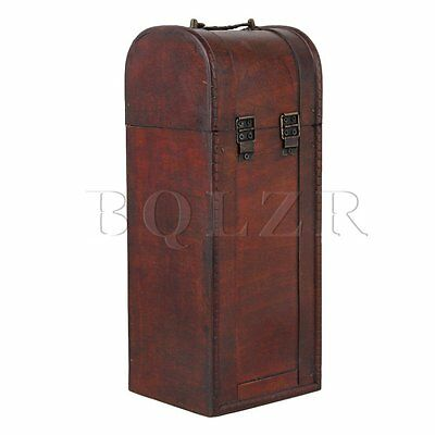Brown Vintage One Bottle Wooden Wine Case Gift Box and Vintage Wine Holder