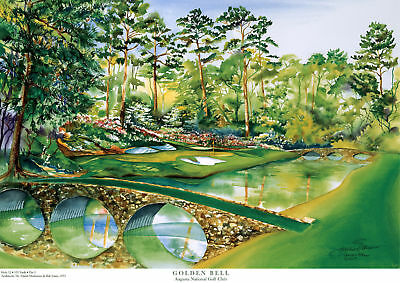 Augusta National Master's Limited Edition Golf Art Print Signed by Artist