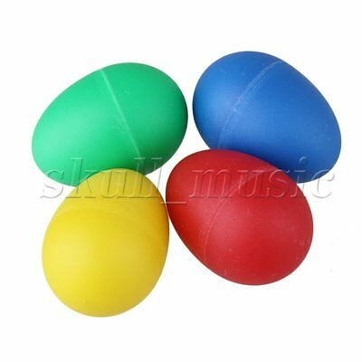 4PCS Percussion Musical Egg Maracas Shakers Rhythm