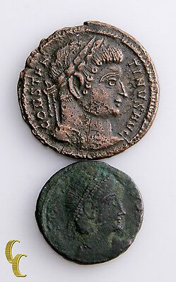 306-337 Ad Constantine The Great 2 pc Ancient Roman Coin lot Centenionalis