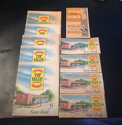 Vintage Grocery Store  LARGE SIZE TOP VALUE STAMP SAVER BOOK plus small 10 total