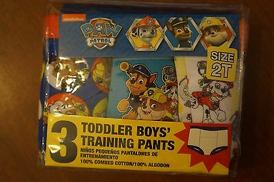 NEW Nickelodeon Paw Patrol Toddler Boys 3 Pack Training Pants Size 2T