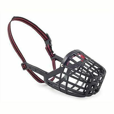 Ancol Dog Muzzle Plastic Mesh Basket Black in 9 Sizes