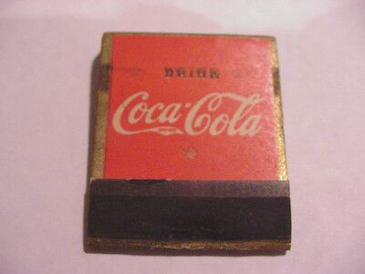 Unused Coca-Cola Match Pack Picture Of Bottle
