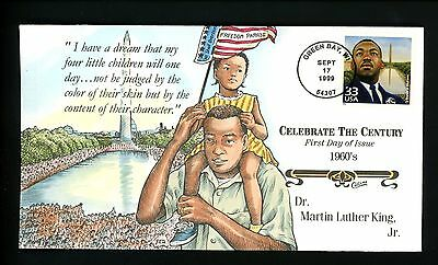 Collins HP FDC #3188a  (L3101) CTC 1960's - Dr. Martin Luther King, Jr.  US Flag