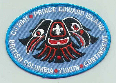 2001 Canada Scout Jamboree - BRITISH COLUMBIA & YUKON SCOUTS Contingent Patch