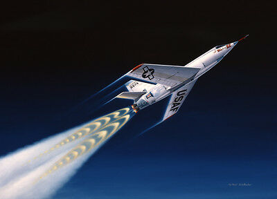 The First Spacemen [Bell X-2 Starbuster] Pilot I.C. Kincheloe Artist Mike Machat
