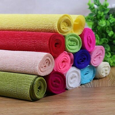 DIY Flower Making Crepe Papers Wrapping Flowers Packing Material 1 Roll 250x50cm