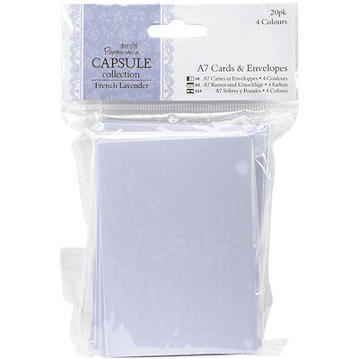 Papermania French Lavender Cards & Envelopes A7 20/Pkg  PM151706