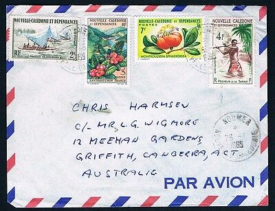 Airmail NEW CALEDONIA to CANBERRA, AUSTRALIA • 1965