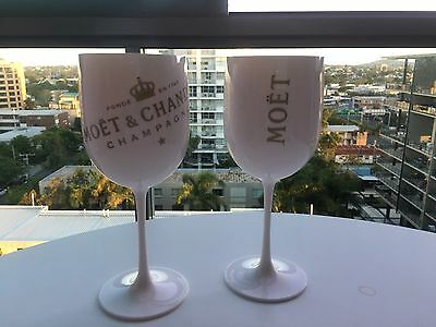 2 X Moet Chandon Ice Imperial Champagne Glasses New Dual Labels ***boomerang App