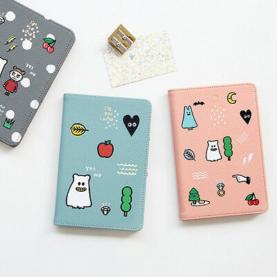 Ghost Pop Passport Cover Holder Case Wallet Cute Travel Card Vacation Leather