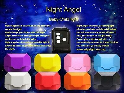 Night Angel Remote Control Personal Light - Free Postage - Assorted Colours