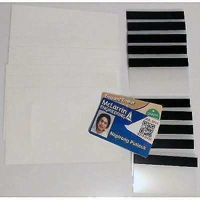 """10 Teslin ID Card Kit - 1-Up Inkjet Teslin Sheets & Butterfly Pouches WITH 1/2"""""""