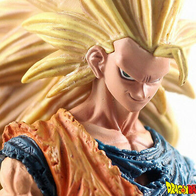 Dragon Ball Z Goku Super Saiyan 3 Battle PVC Figure 21cm Anime Toy Doll Gift New